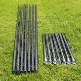 4' H Dog Fence Heavy Line Posts-7 Pack