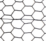 1' x 150' Steel Hex Web Blk PVC Coated Fence