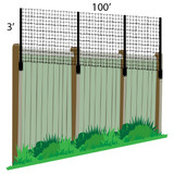 3' x 100' Poly Extension Kit For Existing Fence (Wood/PVC/Metal)