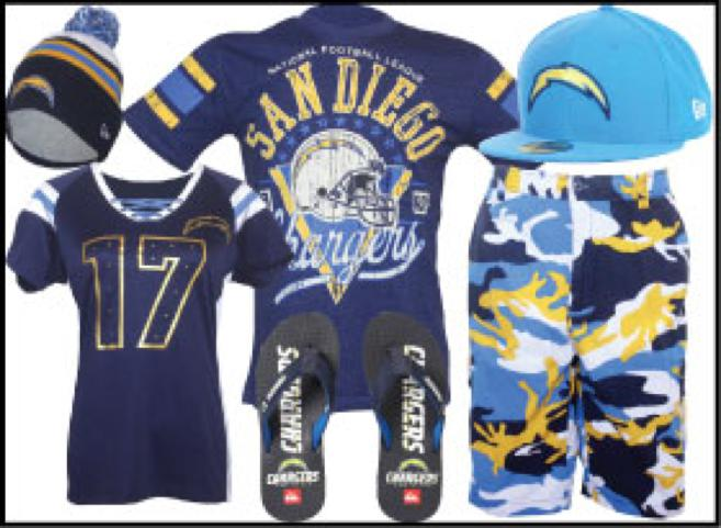 San Diego Chargers Gear
