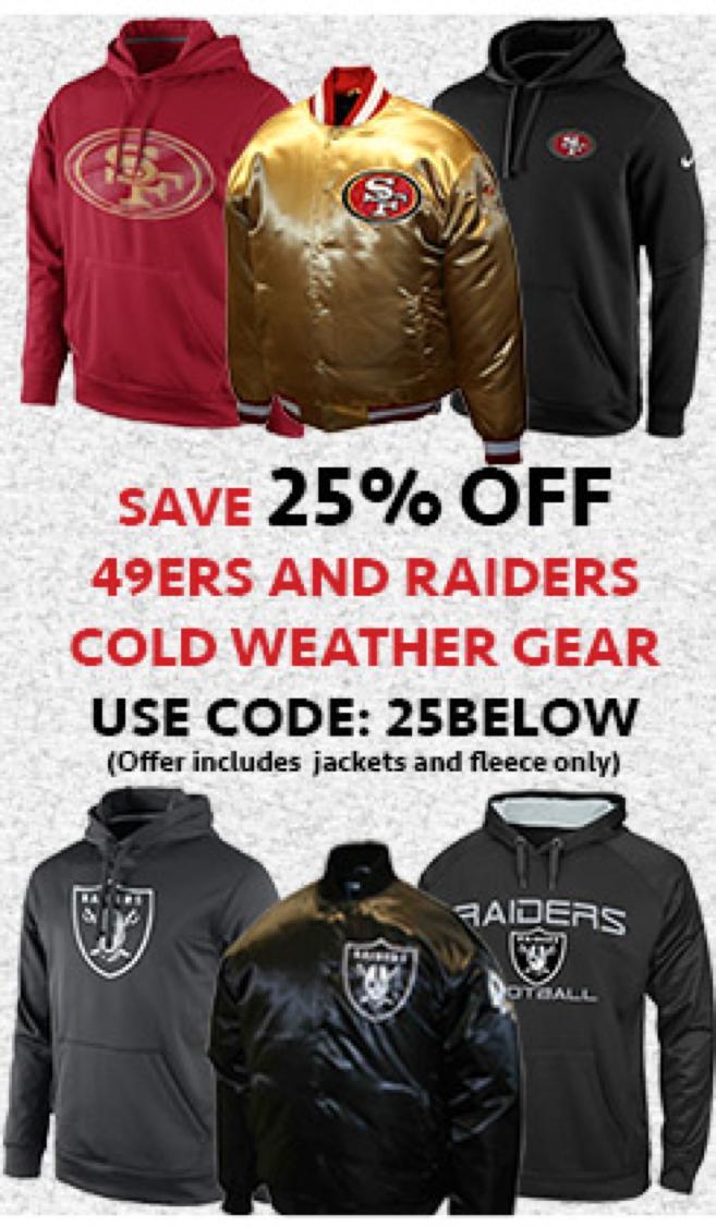 Niners Raiders Cold Weather