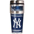 New York Yankees 16oz Travel Tumbler with Metallic Wrap