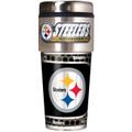 Pittsburgh Steelers 16oz Travel Tumbler with Metallic Wrap