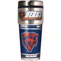 Chicago Bears 16oz Travel Tumbler with Metallic Wrap