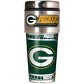 Green Bay Packers 16oz Travel Tumbler with Metallic Wrap