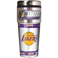 Los Angeles Lakers 16oz Travel Tumbler with Metallic Wrap