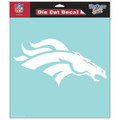 Denver Broncos - 8x8 White Die Cut Decal