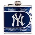 New York Yankees 6oz Metallic Wrap Flask