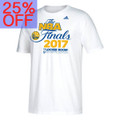 Men's Golden State Warriors adidas White 2017 Western Conference Champions Locker Room T-Shirt