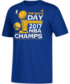 adidas Men's 2017 NBA Champions Golden State Warriors ÌÎå«ÌÎ_The Bay's DayÌÎå«ÌÎ_ÌÎå«Ì´å Parade Royal T-Shirt