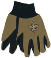 New Orleans Saints Two Tone Adult Size Utility Gloves