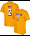 adidas Men's Los Angeles Lakers Lonzo Ball #2 Gold T-Shirt