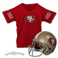 San Francisco 49er's Helmet and Jersey Set