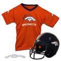 Denver Broncos Helmet and Jersey Set