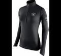 Nike Women's Oakland Raiders Tailgate Element Quarter-Zip Black Pullover