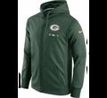 Nike Men's Green Bay Packers Sideline 2017 Therma-FIT Full-Zip Green Hoodie