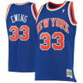 Men's New York Knicks Patrick Ewing Mitchell & Ness Blue 1991-92 Hardwood Classics Swingman Jersey
