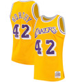 Men's Los Angeles Lakers James Worthy Mitchell & Ness Gold Hardwood Classics Swingman Jersey