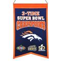 NFL Denver Broncos Super Bowl Championship Banner