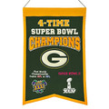 NFL Green Bay Packers 4X Super Bowl Championship Banner