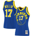 Men's Golden State Warriors Chris Mullin Mitchell & Ness Navy 1985-86 Hardwood Classics Authentic Jersey