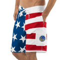 G-III Sports by Carl Banks Golden State Warriors Red/Blue Americana Swim Trunks