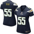 Nike NFL Los Anegles Chargers Game Junior Seau Women's Navy Blue Game Jersey