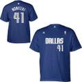 adidas Dallas Mavericks Dirk Nowitzki Game Time T-Shirt