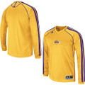 L.A. Lakers Long Sleeve Shooting Shirt Gold