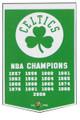 Boston Celtics Dynasty Pennant