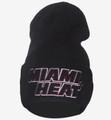 Miami Heat Cuffed Draft Beanie Black Front