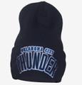 Oklahoma City Thunder Cuffed Draft Beanie Blue Front