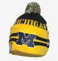 University of Michigan Wide Point Cuffed Beanie