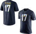 Los Angeles Chargers Philip Rivers Player Pride Nike T-Shirt