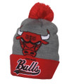 NBA Chicago Bulls Tailsweep Beanie with Pom and Logo from Mitchell & Ness