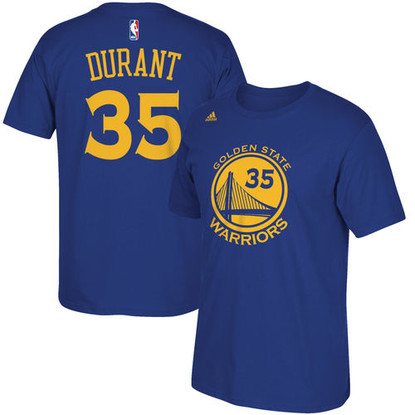 Front and Back View Kevin Durant Adidas Mens Player Name and Number Tee