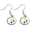 Pittsburgh Steelers Dangle Logo Earring Set