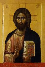 Icon of Christ the Pantocrator - 13th c. Vatopedi Monastery - (11J11)