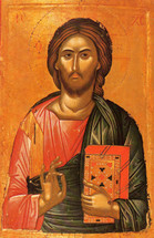 Icon of Christ the Pantocrator - 16th c. Theophan the Cretan - (11S08)