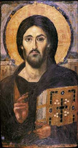 Icon of Christ the Pantocrator - 6th c. Mt. Sinai - (11S01)