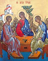 Icon of the Hospitality of Abraham (Holy Trinity) - 20th c. (11O33)