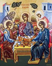 Icon of the Hospitality of Abraham (Holy Trinity)- 20th c. (11O31)