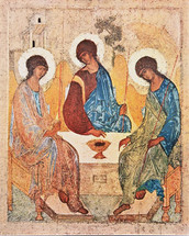 Icon of the Hospitality of Abraham (Holy Trinity) - 14th c. St. Andrei Rublev - (11O30)