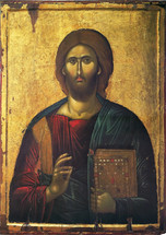 Icon of Christ the Pantocrator - 14th c. Serres - (11S24)