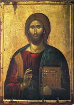 Icon of Christ the Pantocrator - 14th c. Serres - (11S24)
