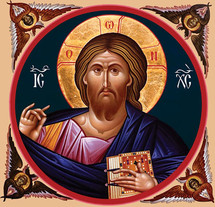 Icon of Christ the Pantocrator - 20th c. - (11S27)