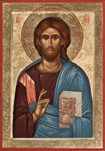 Icon of Christ the Pantocrator - 20th c. - (11J12)