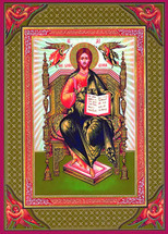 Icon of Christ the Light-Giver - 20th c. Tikhomirov - (11T05)