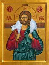 Icon of The Good Shepherd - 20th c. - (11S22)