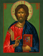 Icon of Christ the Teacher - 20th c. Russia - (11J13)
